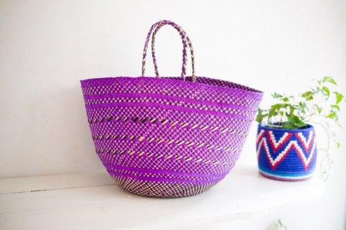 かごバッグS 紫