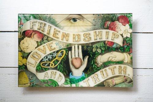 """レクタングルトレイ9×14"""" FRIENDSHIP LOVE TRUTH"""