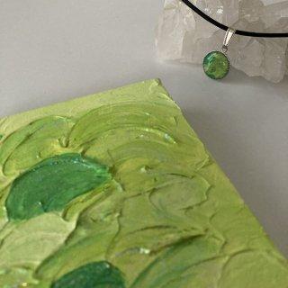 黄緑エナジーアート(パワーアート)「色の絵」A-10センチ×10センチ