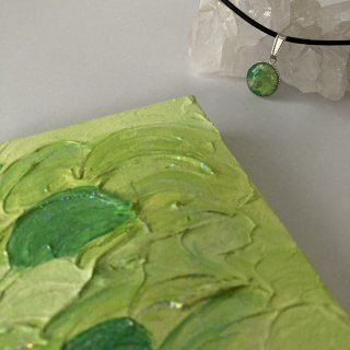 大空応援福袋 黄緑エナジーアート色の絵A-10センチ×10センチセット