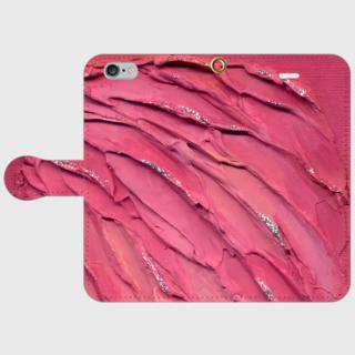 ★スマホケース「手帳型」iPhone、アンドロイドその他(energyart-pink-T)【送料無料】