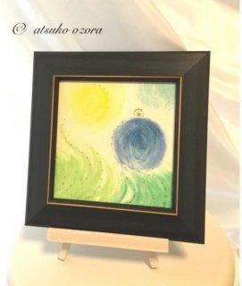 【注文製作】あなた専用のエナジーアート(パワーアート)【色の絵】クレパスタイプ  15�×15�