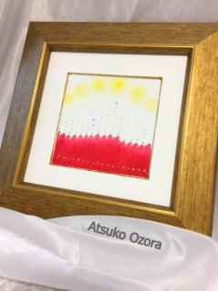 注文製作-あなた専用のエナジーアート色の絵クレパス画  10�×10�