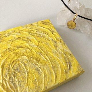 黄色のエナジーアート(パワーアート)「色の絵」A-10センチ×10センチ