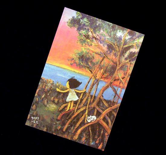 日暮れのマングローブ