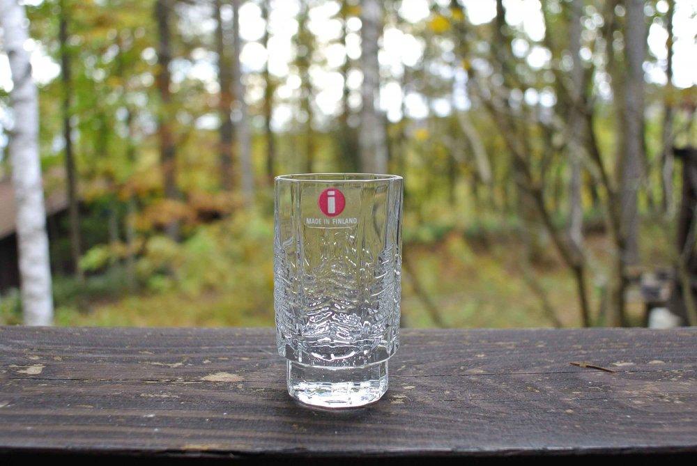 """iittala """"KUUSI"""" Shot Glass イッタラ もみの木 ガラスのショットグラス vintage 01"""