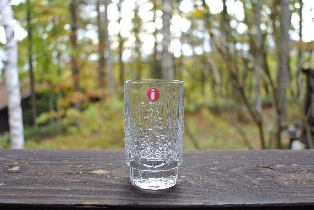 """iittala """"KUUSI"""" Shot Glass イッタラ もみの木 ガラスのショットグラス vintage 02"""