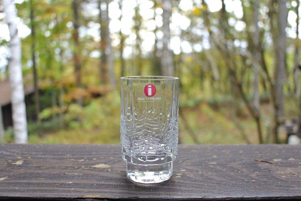 """iittala """"KUUSI"""" Shot Glass イッタラ もみの木 ガラスのショットグラス vintage 03"""