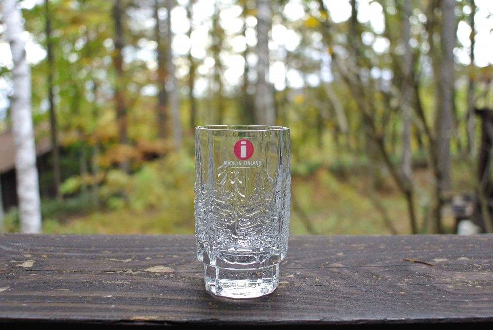 """iittala """"KUUSI"""" Shot Glass イッタラ もみの木 ガラスのショットグラス vintage 04"""