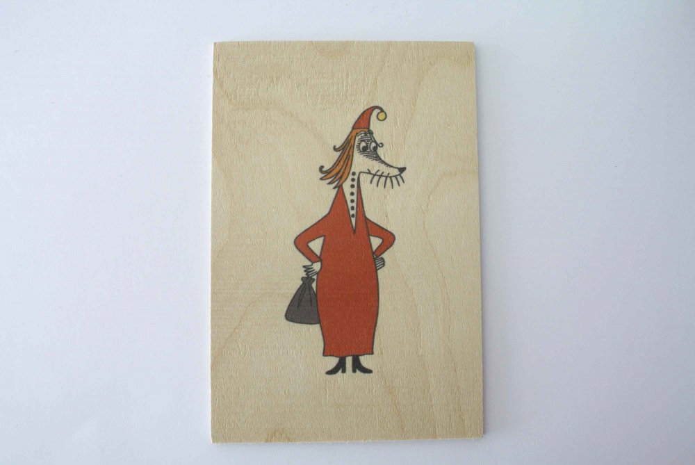 """MUUMI"" WOODEN CARD 木製ポ..."
