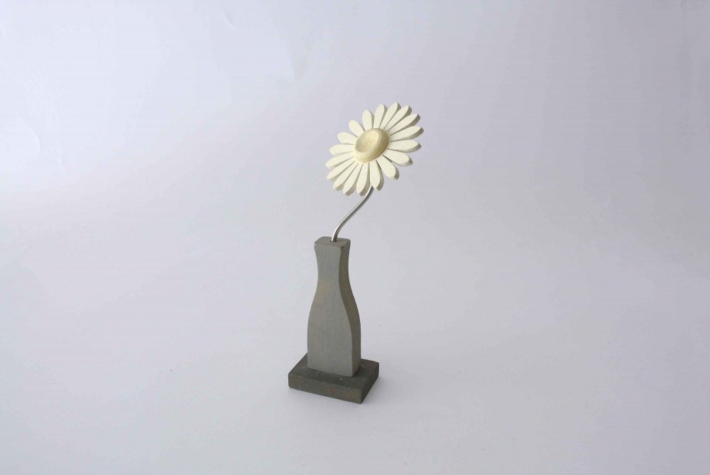 "Nedholm ""Wooden Flower Object"" マーガレットのお花のオブジェ SWEDEN(オフホワイト×グレー)  SS"