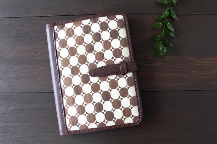 手帳/ブックカバー(A6・文庫フリーサイズ)<奴・黒×ダークブラウン>