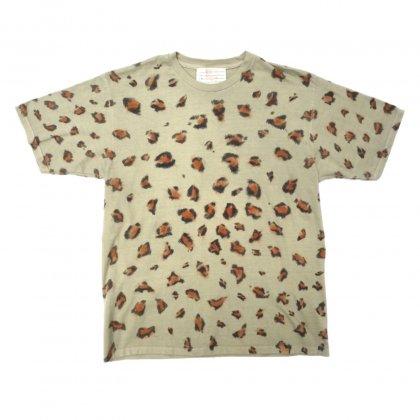 古着 通販 ハンドペイント レオパードTシャツ【pimpstick 西染】Hand Painted Leopard Tee