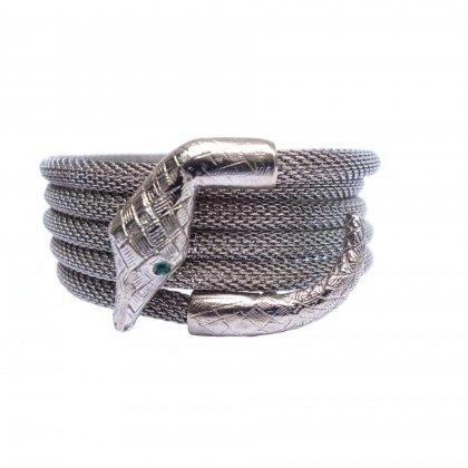 古着 通販 ヴィンテージ シルバーバングル【Snake】Vintage Bracelet