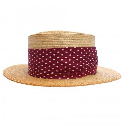 古着 通販 ビンテージ【Mathis INC】カンカン帽【1930's~】BOATER HAT