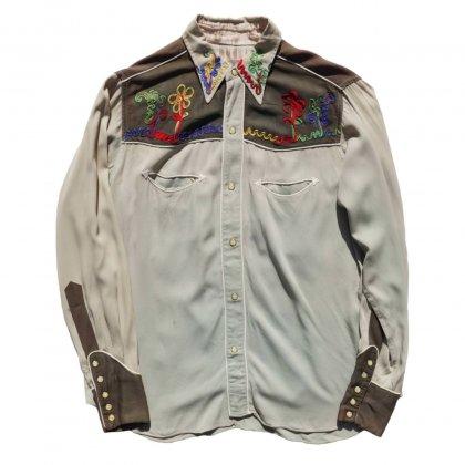 古着 通販 ヴィンテージ レーヨンウエスタンシャツ【Las Vegas】【1950's】【Freemason】Vintage Western Shirts