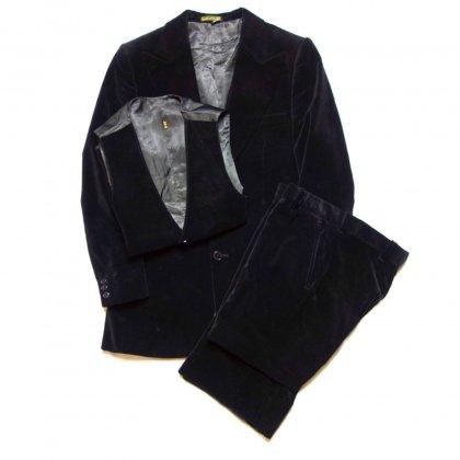 古着 通販 ヴィンテージ ベロアスリーピーススーツ セットアップ【1970's】Vintage 3-piece Suits