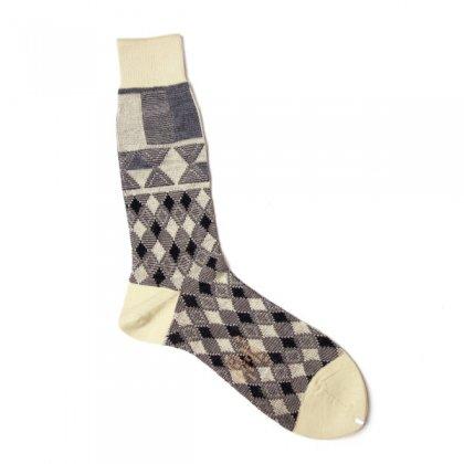 古着 通販 アンティパスト メンズ ソックス【ANTIPAST】Diamond block socks