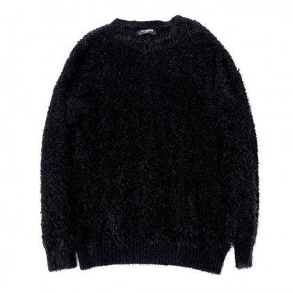 古着 通販 クルーネックシャギーニット【ブラック】Vintage Knit