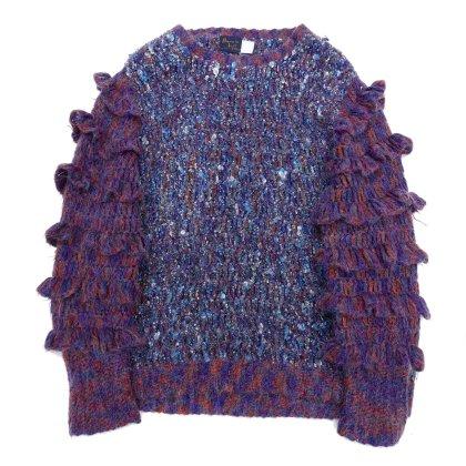 古着 通販 ヴィンテージ フリルスリーブクルーネックニット【Bonnie Lee LeRoy】Vintage Knit