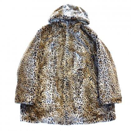 古着 通販 リバーシブル レオパードファー フードコート【Designers】Vintage Fur coat