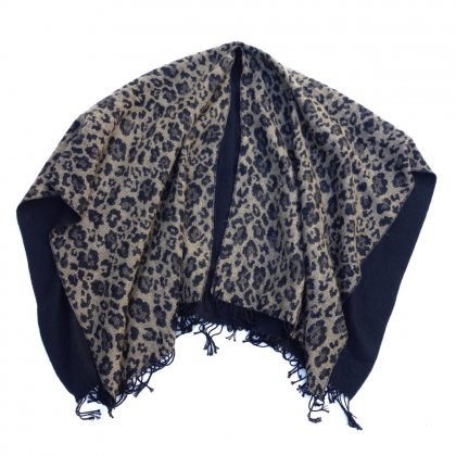 古着 通販 ビンテージ ポンチョ【Leopard】【1980's】VINTAGE PONCHO