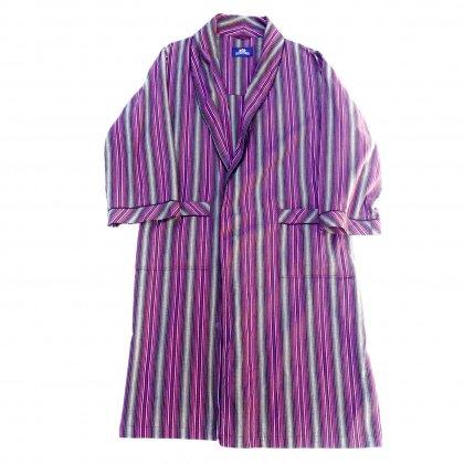 古着 通販 ヴィンテージ コットン ガウン【Multi Stripe】【1980's】Vintage Robe