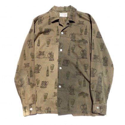 古着 通販 ヴィンテージ オールプリント コットン シャツ【Dansbono Designs】【1960's】Vintage Shirts