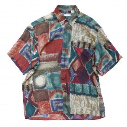 古着 通販 アートプリント シルク シャツ【watercolor】Art Print Shirts