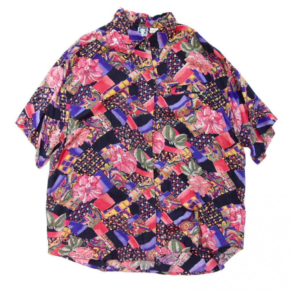 古着 通販 ヴィンテージ アートプリント レーヨン シャツ【1980's-】Vintage Shirts