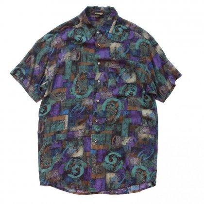 古着 通販 アートプリント レーヨン シャツ【Abstract Noise】Art Print Shirts