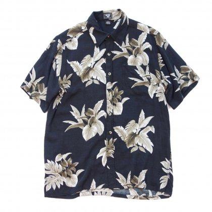 古着 通販 レーヨン アロハ シャツ【Black Leaf】【1990s-】Aloha Shirts