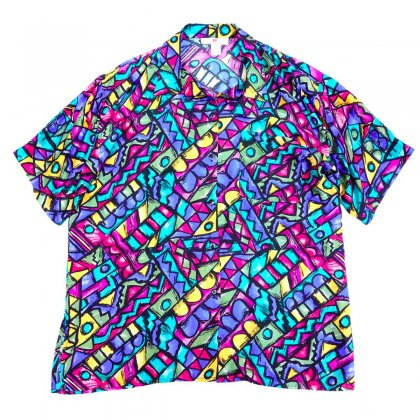 古着 通販 アートプリント シルク シャツ【Contemporary Cubes】Art Print Shirts