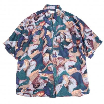 古着 通販 アートプリント シルク シャツ【Streamline】Art Print Shirts