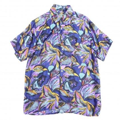 古着 通販 アートプリント シルク シャツ【ROBERT STOCK】Art Print Shirts