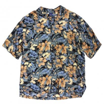 古着 通販 ヴィンテージ レーヨン アロハシャツ【Dull Flower】【80's~90's】Vintage Aloha Shirts