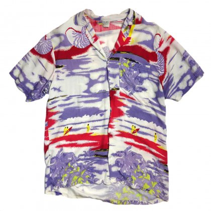 古着 通販 ヴィンテージ レーヨン アロハシャツ【Noisey Color】【1980's】Vintage Aloha Shirts