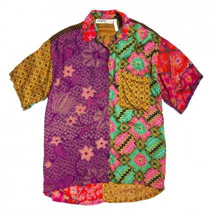 古着 通販 ヴィンテージ アートプリント レーヨンシャツ【Japanism Crazy Pattern】【1980's】Vintage Art Print Shirts