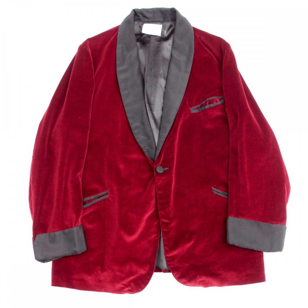 古着 通販 ヴィンテージ スモーキング ガウン【Burgundy Velvet】【1980's-】Vintage Robe