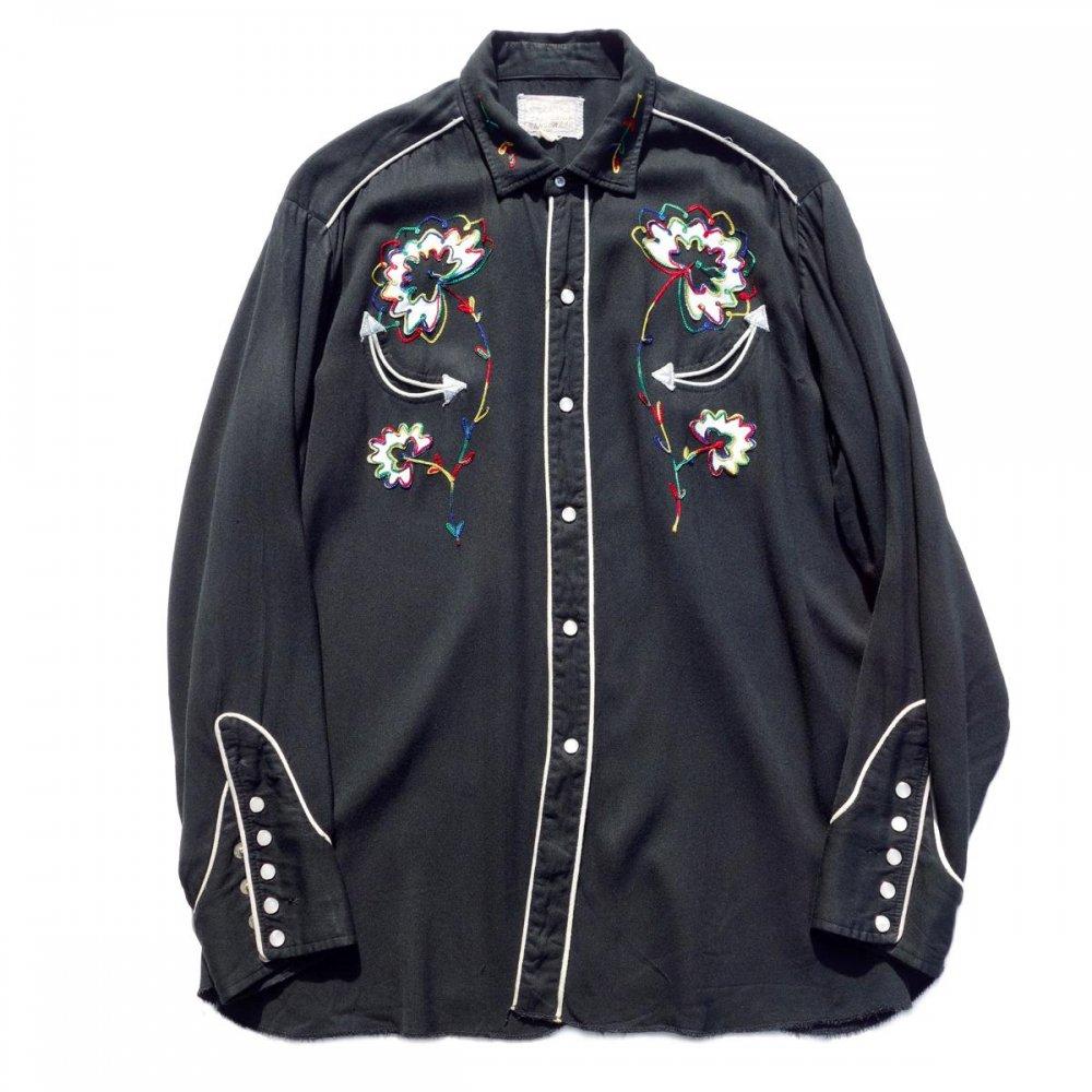 古着 通販 ヴィンテージ 【H BAR C】レーヨンギャバジン ウェスタンシャツ【1960's-】Vintage Western Shirts