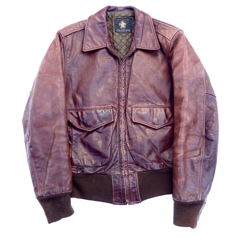 古着 通販 ゴールデンベア【Golden Bear】ヴィンテージ レザー ジャケット A2 タイプ【1970s-】Vintage Leather Jacket
