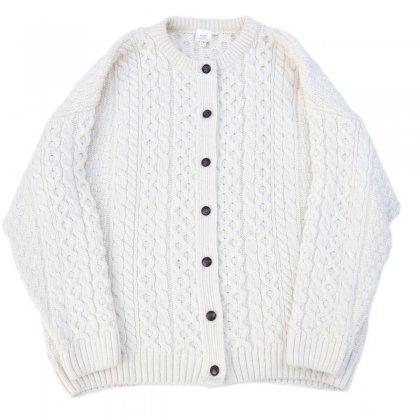 フィッシャーマン ニット カーディガン【PURE WOOL】Vintage Fisherman Knit