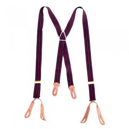 古着 通販 ヴィンテージ サスペンダー【Navy-Red-Stripe】Vintage Suspenders