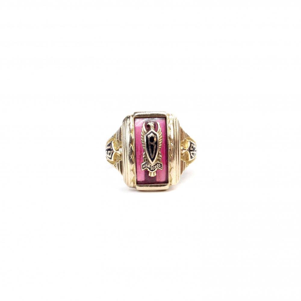 古着 通販 カレッジリング【1943s】【HJ 10K】Vintage College Ring