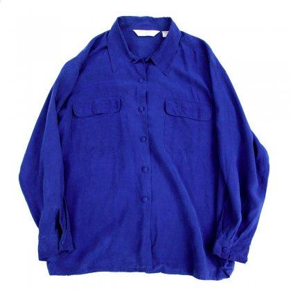 オープンカラー シルクシャツ【Royal Blue】Vintage Shirts