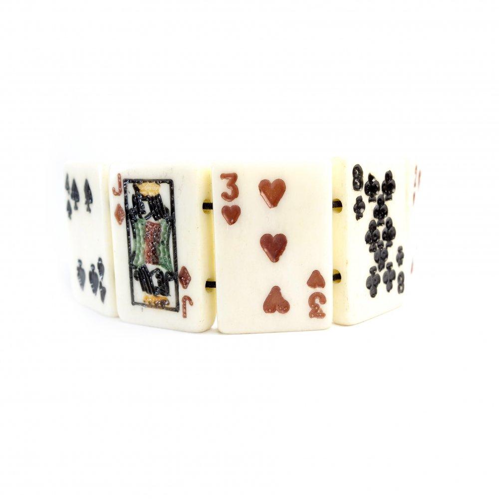 古着 通販 ヴィンテージ 象牙 トランプ ブレスレット【1950s~Gambling Amulet】Vintage Bangle