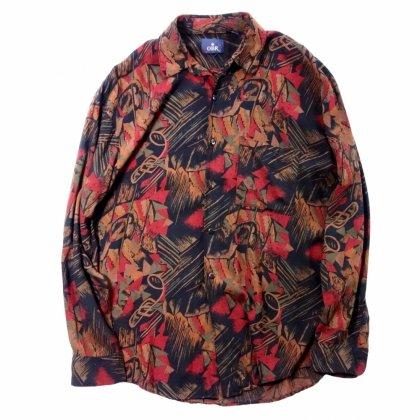 古着 通販 ヴィンテージ レーヨン シャツ【Abstract Pattern】【pimpstick×西染】Vintage Shirt