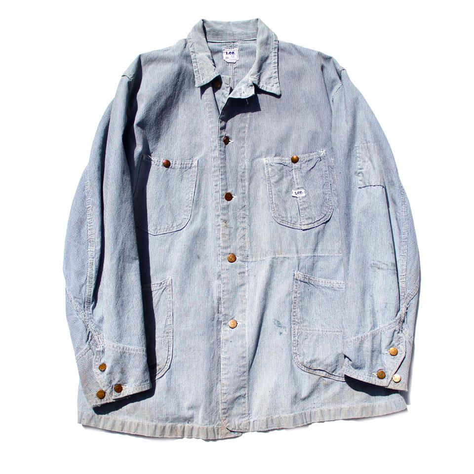 古着 通販 リー【Lee 91-J】ヒッコリーデニム ヴィンテージ カバーオール【1960s-】 Vintage Railroader Jacket