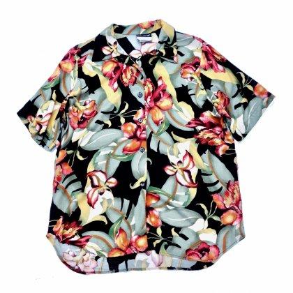 ヴィンテージ S/S レーヨン シャツ【 Flower-Tropical】【 1980s】