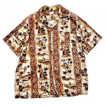 ヴィンテージ  アロハ シャツ【1960s~ Fashions of Hawaii】Made in Hawaii